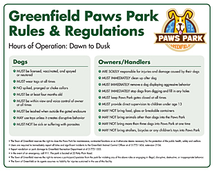Paws Park Rules